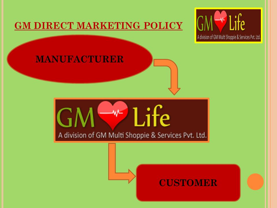 GM DIRECT MARKETING POLICY
