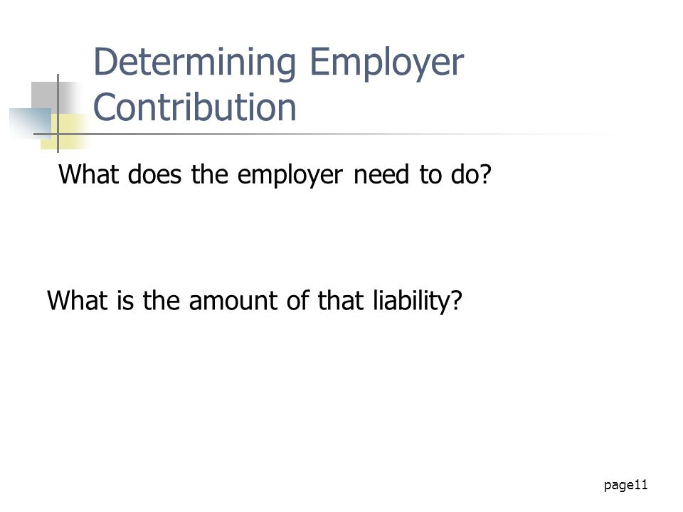 Determining Employer Contribution