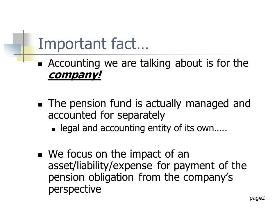 Important fact… Accounting we are talking about is for the company!