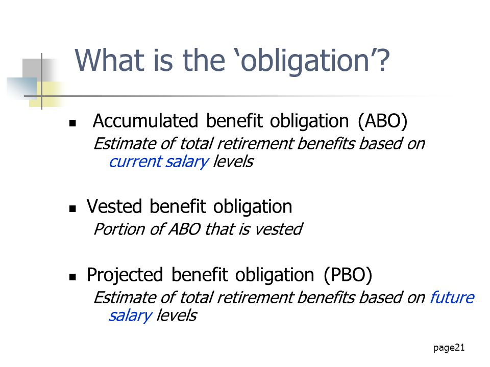 What is the 'obligation'