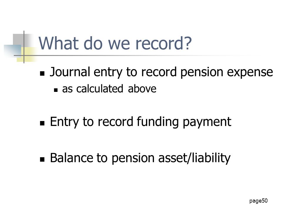 What do we record Journal entry to record pension expense