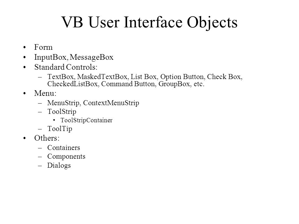 VB NET User Interface Controls - ppt video online download