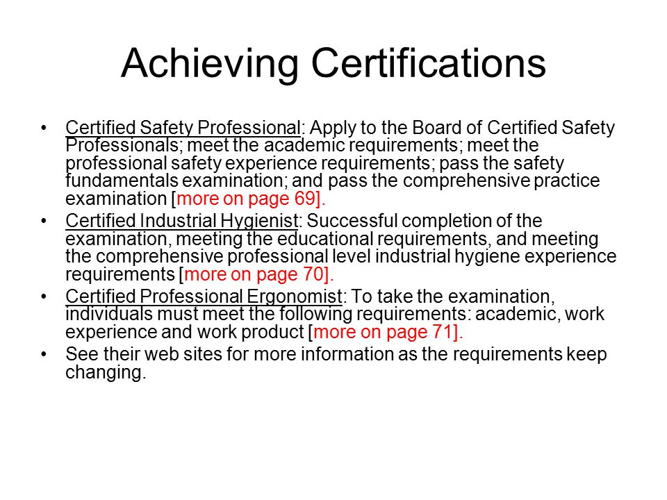 Chapter 4 Roles And Professional Certifications For Safety And