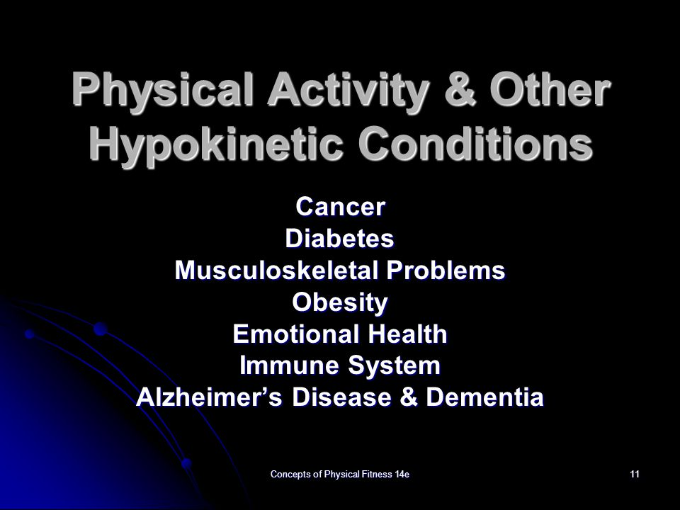 Physical Activity & Other Hypokinetic Conditions