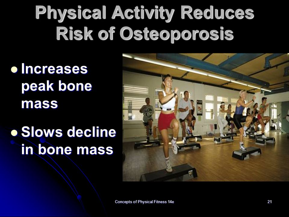 Physical Activity Reduces Risk of Osteoporosis