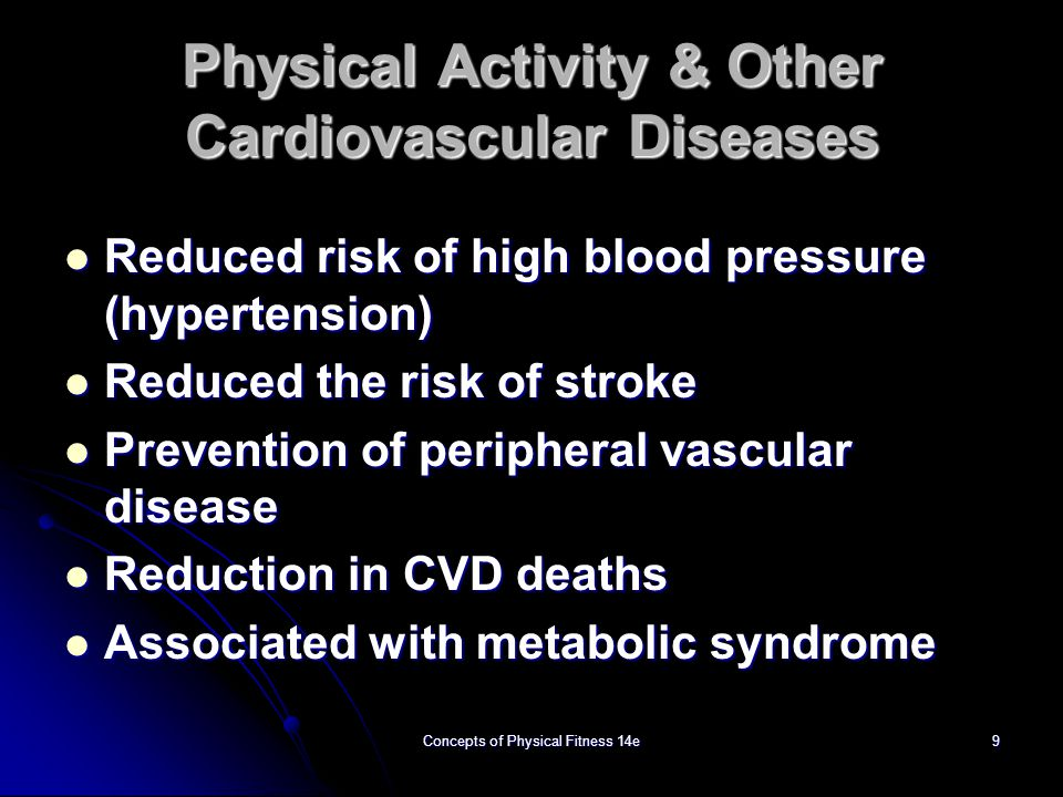 Physical Activity & Other Cardiovascular Diseases