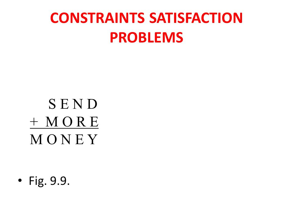 CONSTRAINTS SATISFACTION PROBLEMS