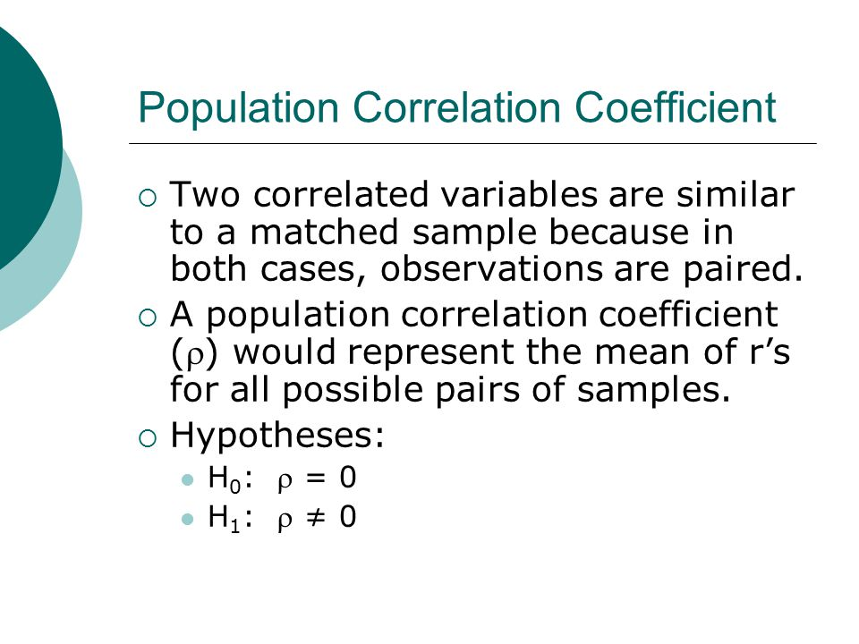 Population Correlation Coefficient