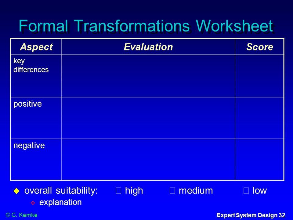 P 4200 Expert Systems Dr Christel Kemke Ppt Video Online Download. Formal Transformations Worksheet. Worksheet. Posite Transformations Worksheet At Mspartners.co