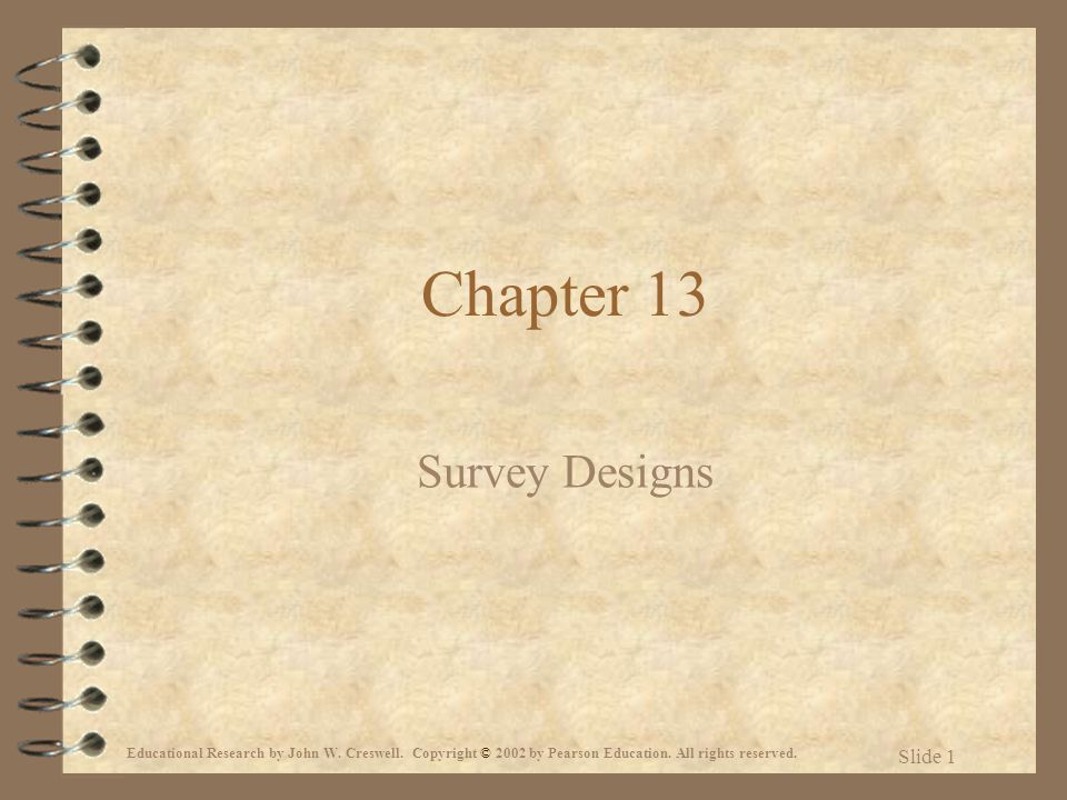 Chapter 13 Survey Designs
