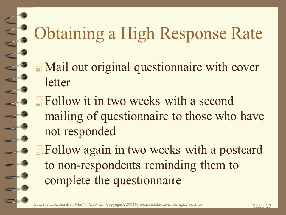 Obtaining a High Response Rate