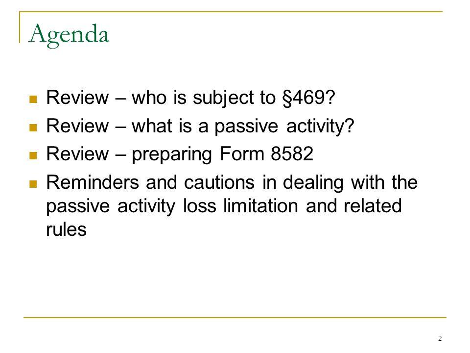 Irc 469 Passive Activities Part 5 Last One Ppt Video Online