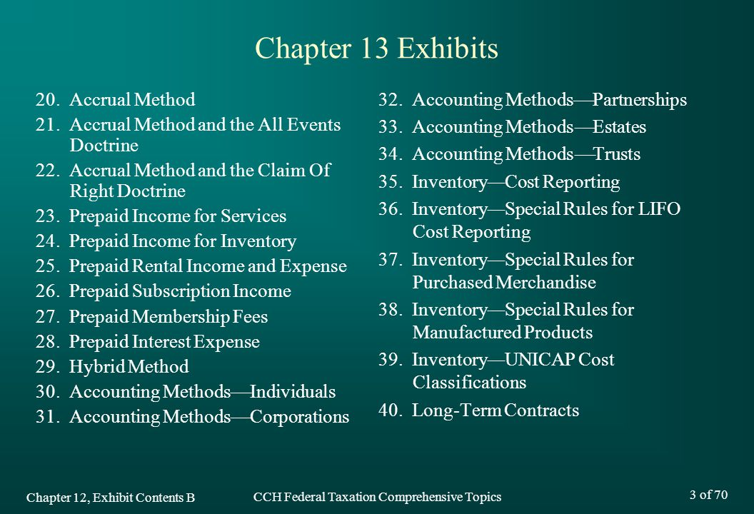CCH Federal Taxation Comprehensive Topics Chapter 13 Tax