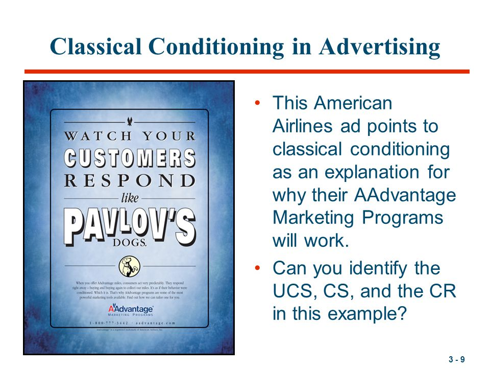 conditioning and advertising