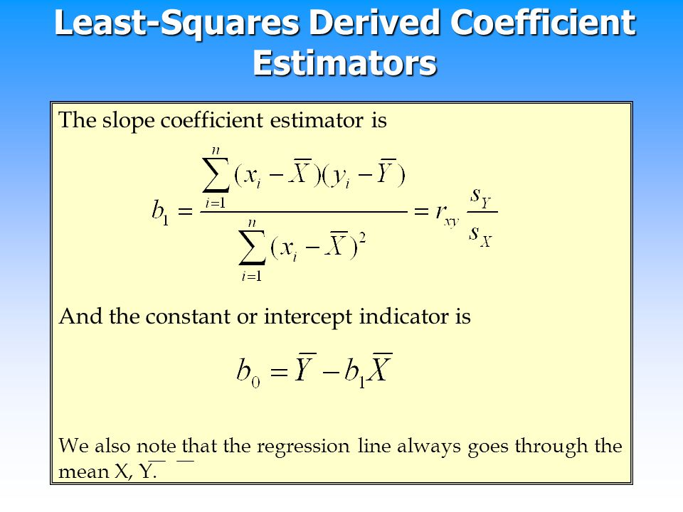 Least-Squares Derived Coefficient Estimators