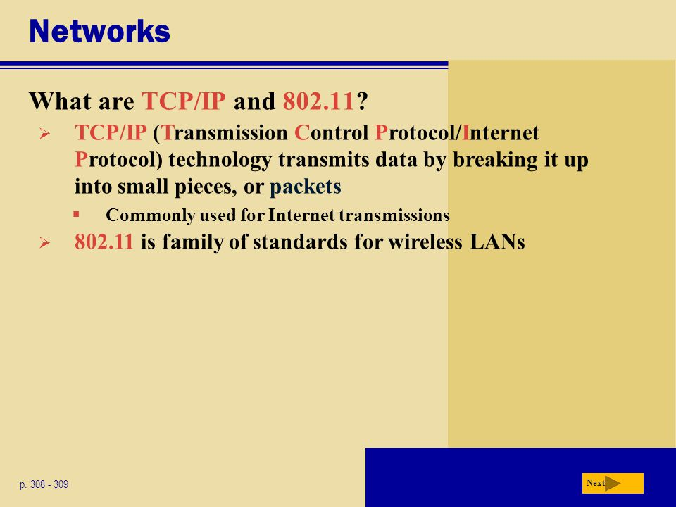 Networks What are TCP/IP and