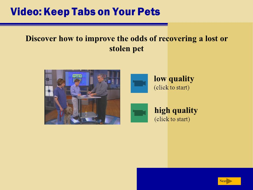 Video: Keep Tabs on Your Pets
