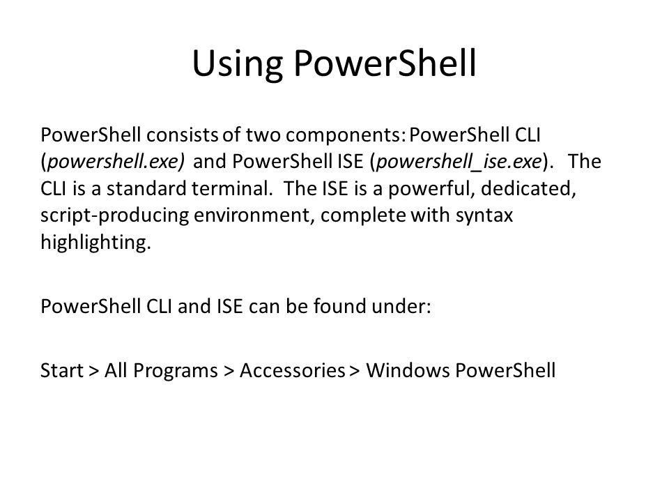 Powershell Ise Tutorial