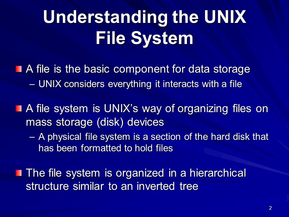 Understanding the UNIX File System