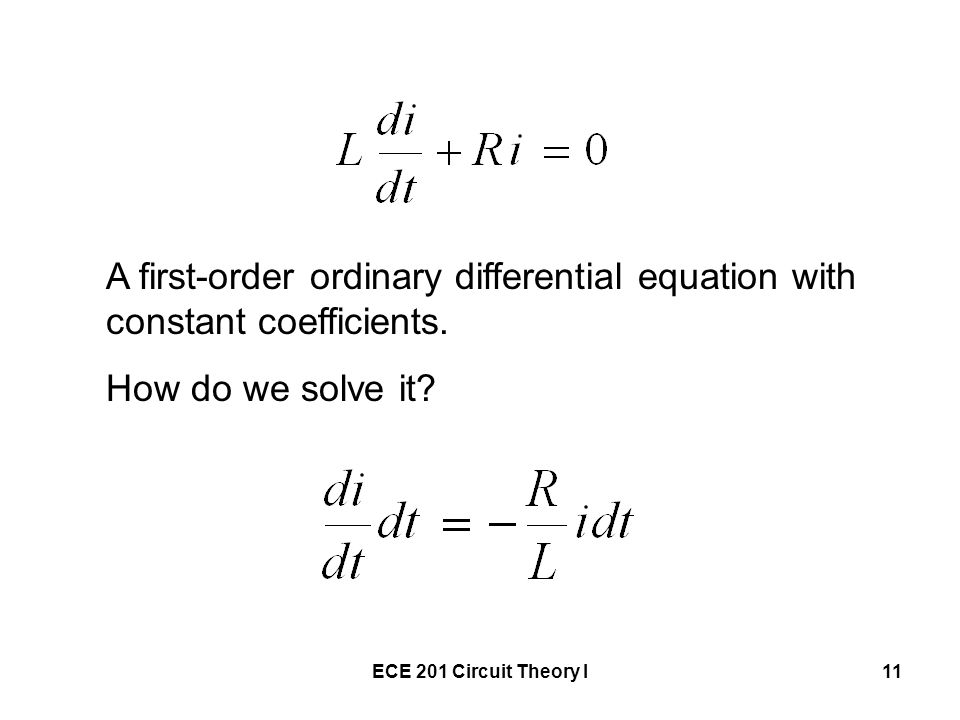 A first-order ordinary differential equation with constant coefficients.