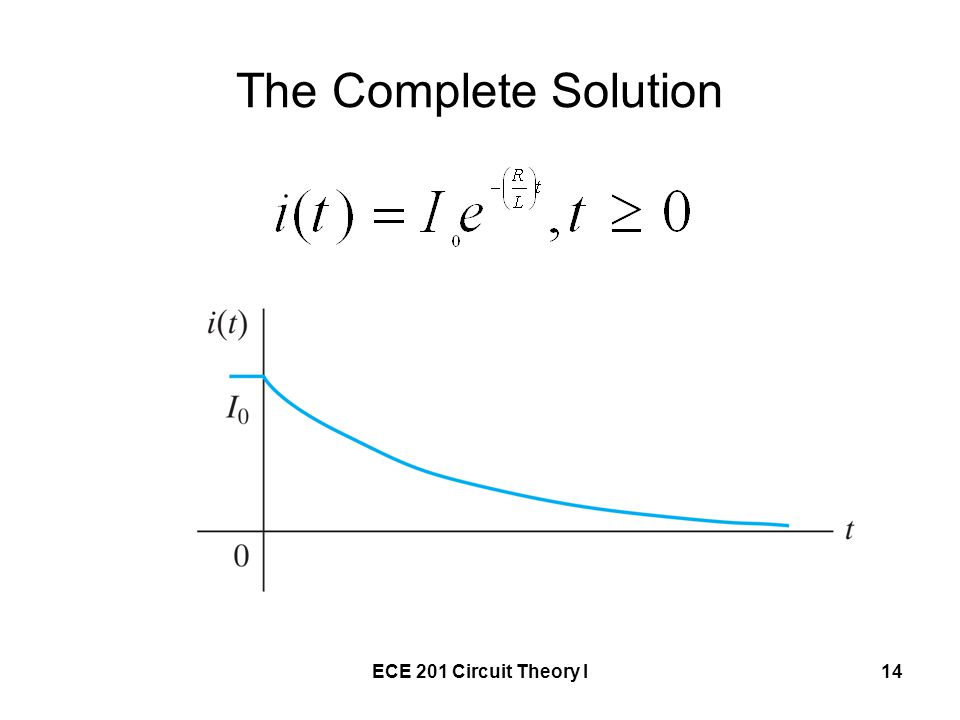 The Complete Solution ECE 201 Circuit Theory I