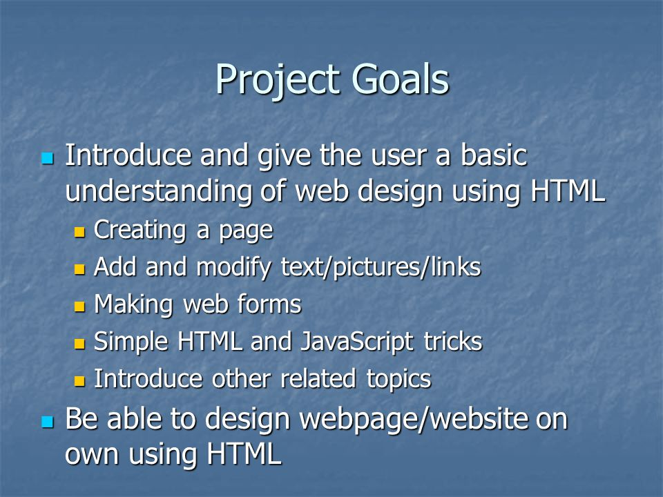 Inquiry And Design Based Project Simple Html Web Page Design Ppt Video Online Download