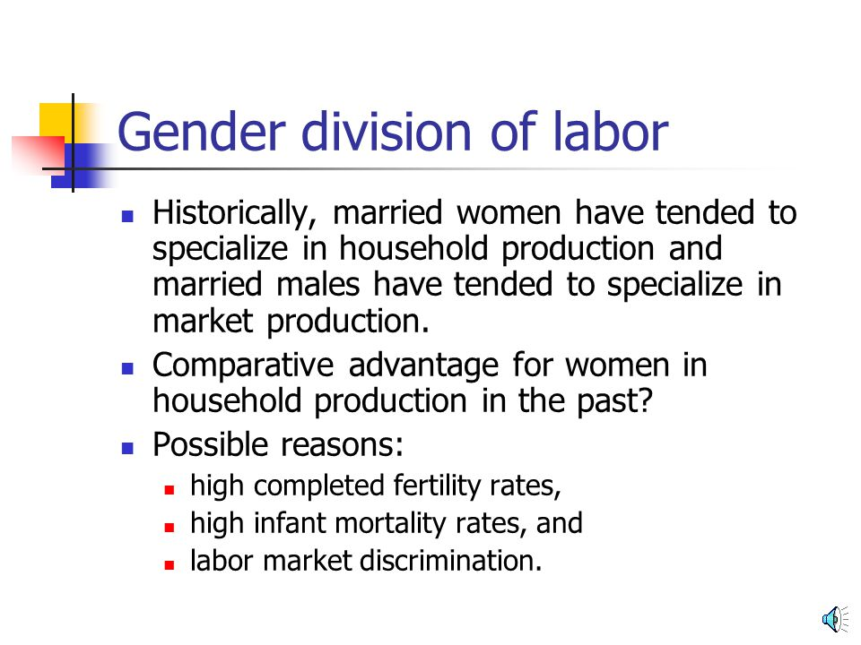 gender division of labour