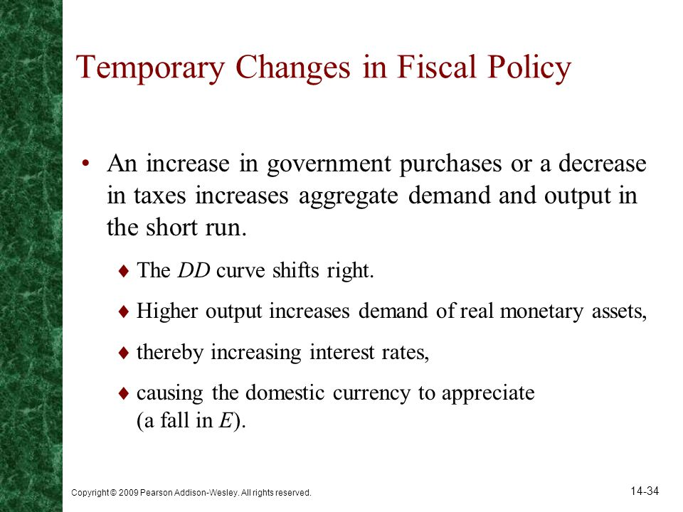 Temporary Changes in Fiscal Policy
