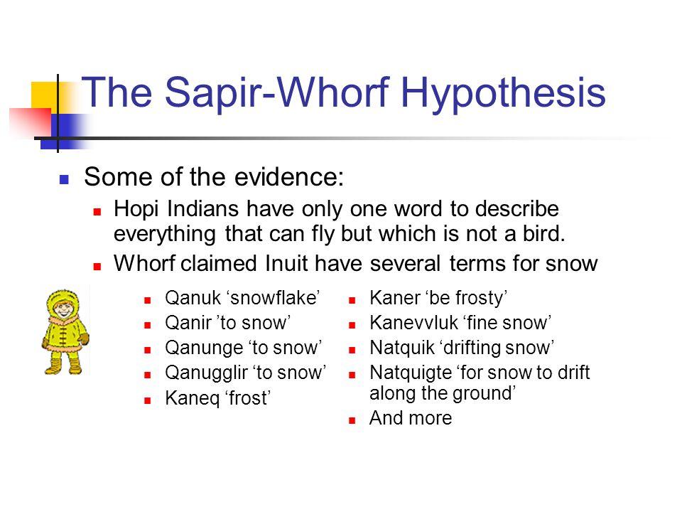 summary sapir whorf hypothesis