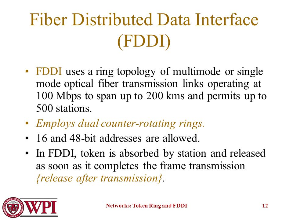 Token Ring and Fiber Distribut...