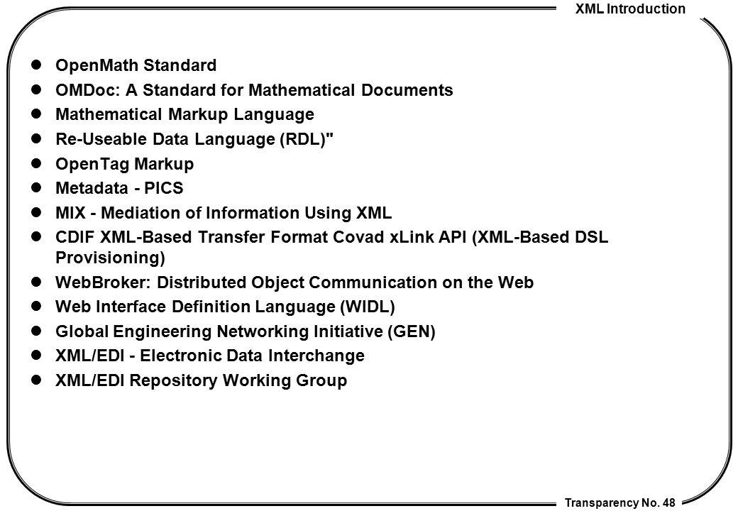 Mathematical Markup Language