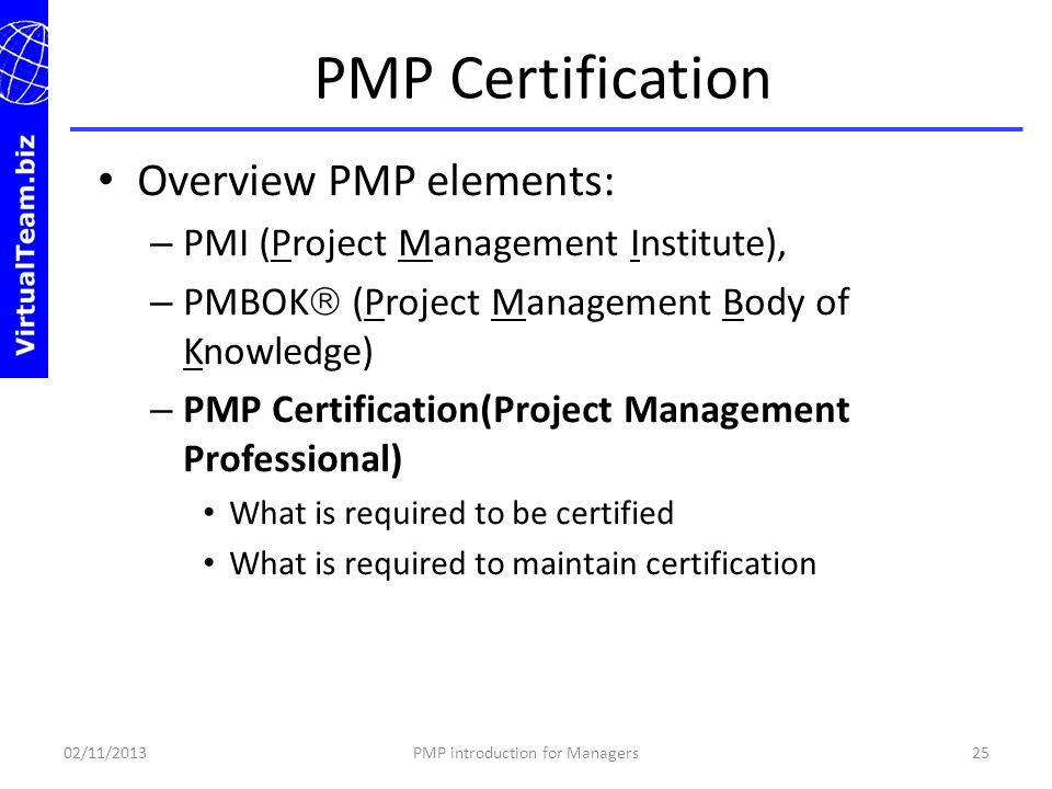 Welcome To Pmp Certification Introduction For Managers Ppt Video
