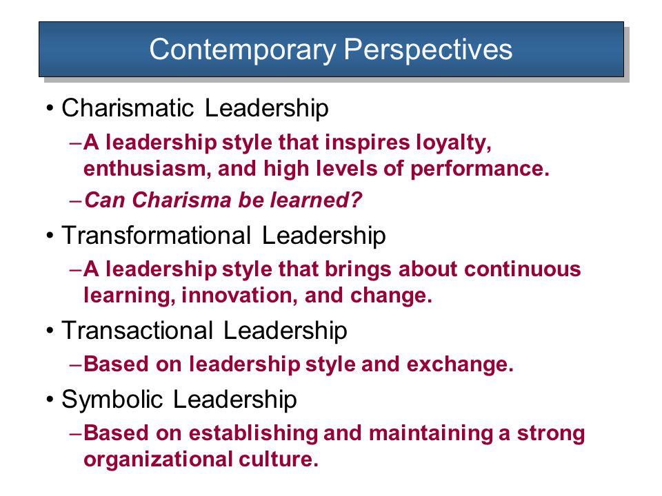 Leadership And Trait Theory Ppt Video Online Download