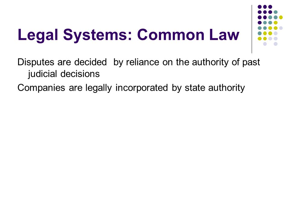 Legal Systems: Common Law