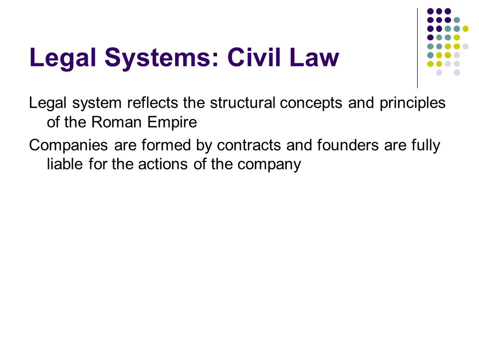 Legal Systems: Civil Law