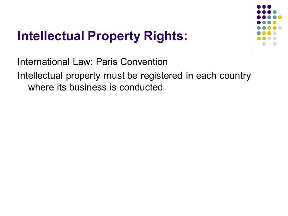 Intellectual Property Rights: