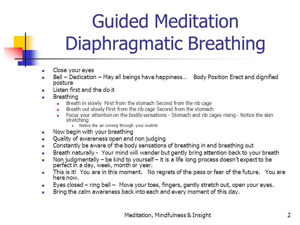 Introduction Meditation Letting Go Acceptance Mantras Ppt