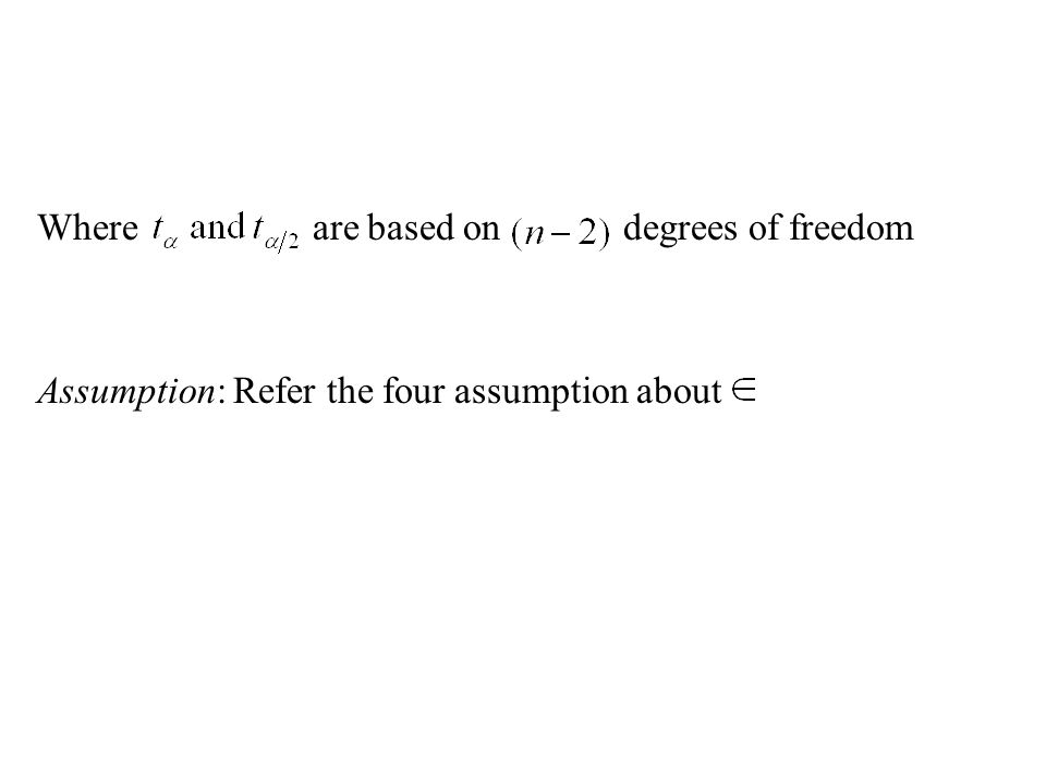 Where are based on degrees of freedom