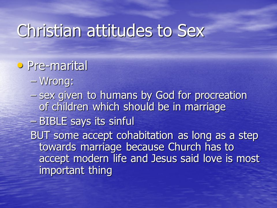 bible says about sex before marriage
