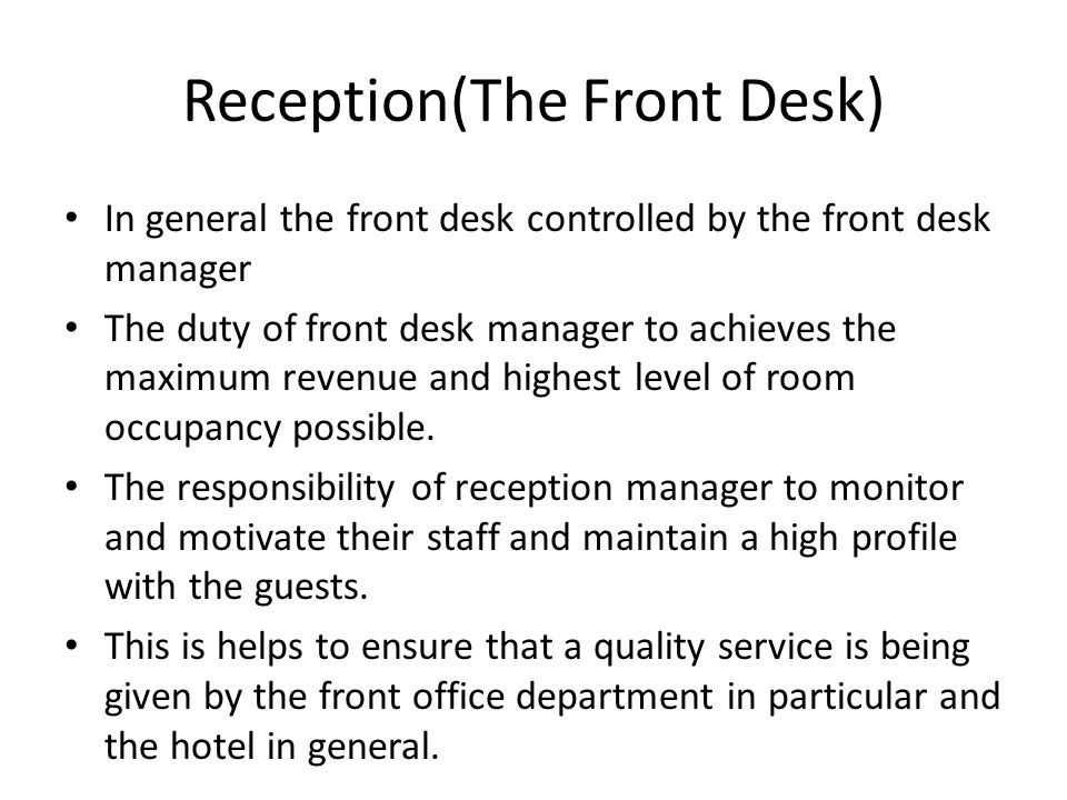 31 receptionthe