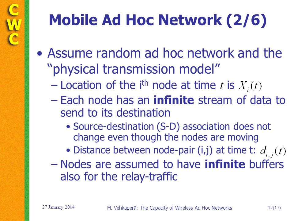 The Capacity of Wireless Ad Hoc Networks - ppt download