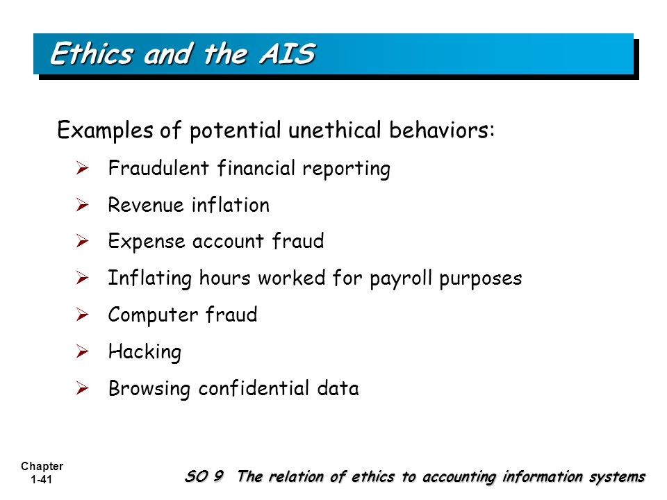 unethical behavior in accounting examples