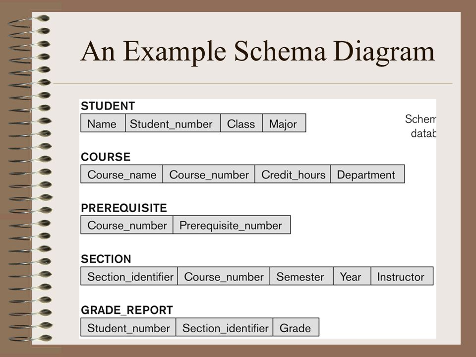 Database systems chapter 2 ppt video online download 6 an example schema diagram ccuart Images