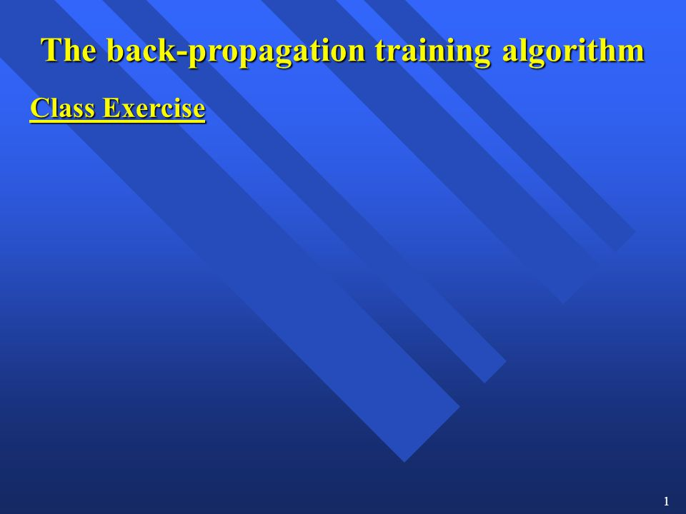 The back-propagation training algorithm