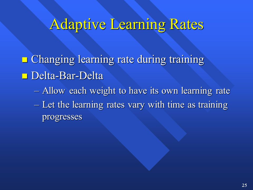 Adaptive Learning Rates