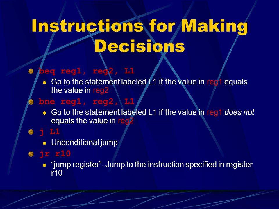 Instructions for Making Decisions