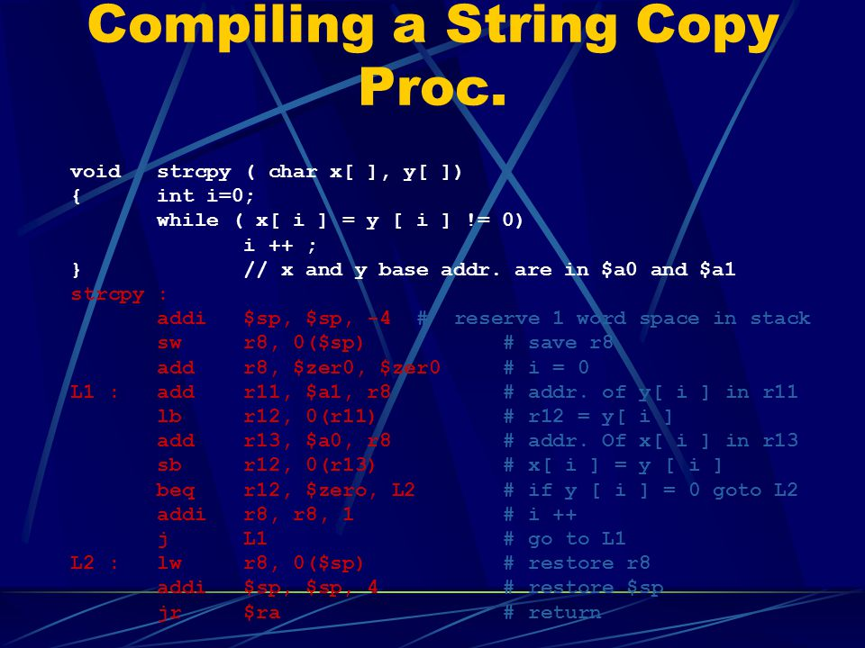 Compiling a String Copy Proc.