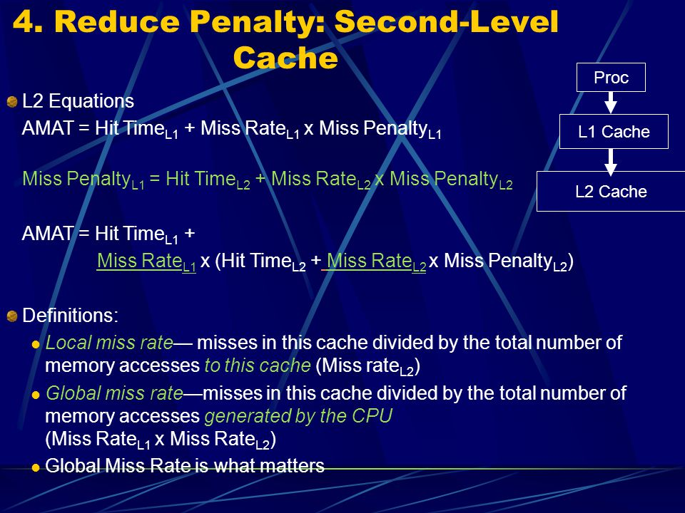 4. Reduce Penalty: Second-Level Cache