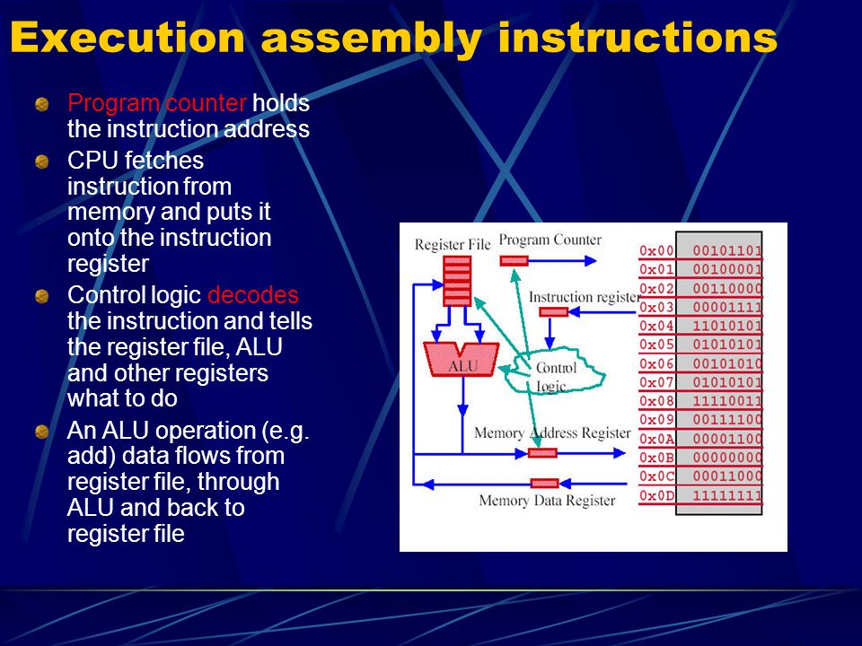 Execution assembly instructions