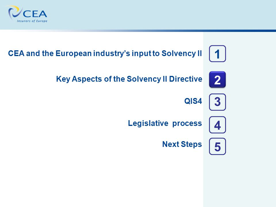 CEA and the European industry's input to Solvency II